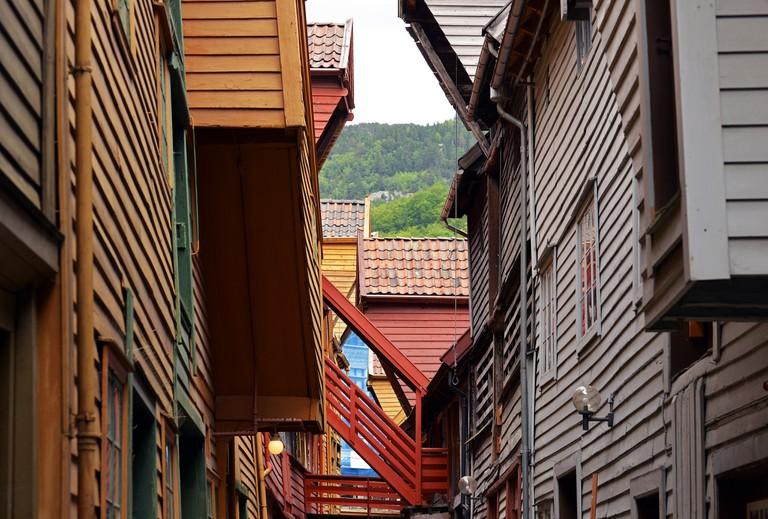 Back of the Bryggen houses