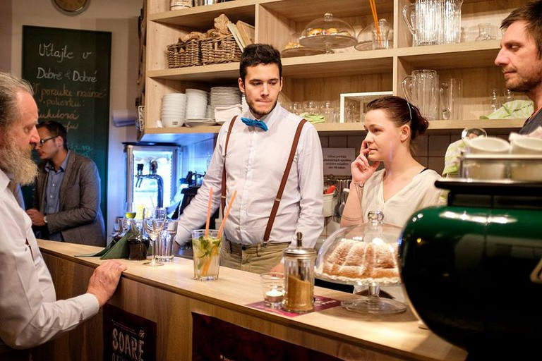 The staff at Dobre & Dobré is a mix of previously homeless and regular employees. You won't be able to tell which is which – and that's the point