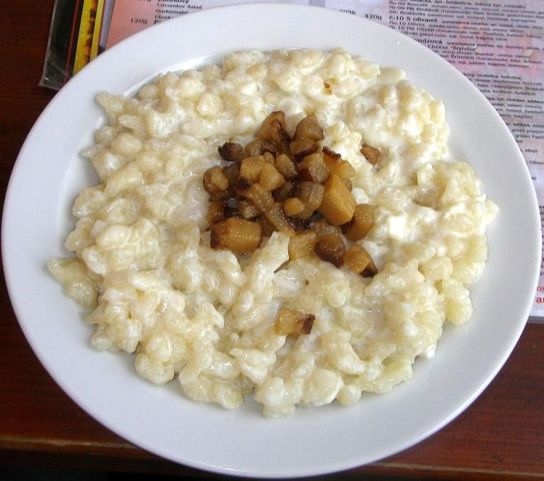 Bryndzové halušky is Slovakia's national dish