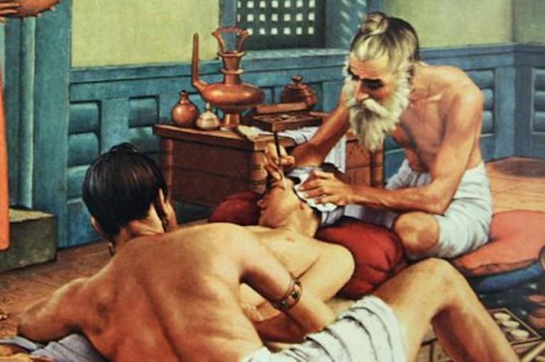 Cataract surgery in 3rd century CE India