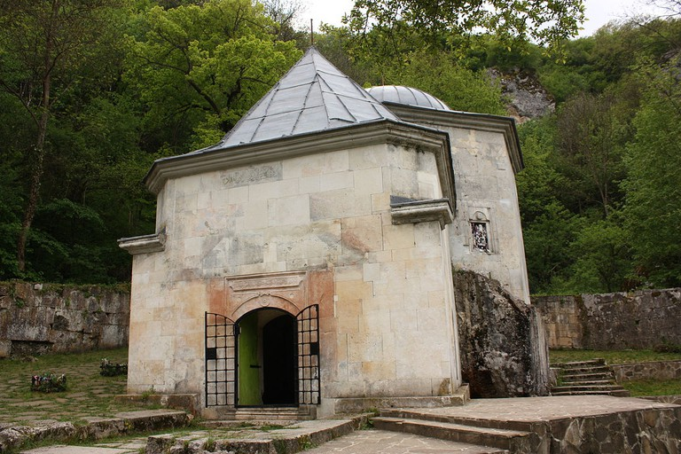 The mausoleum at Demir Baba Teke with the grave of Demir Baba himself