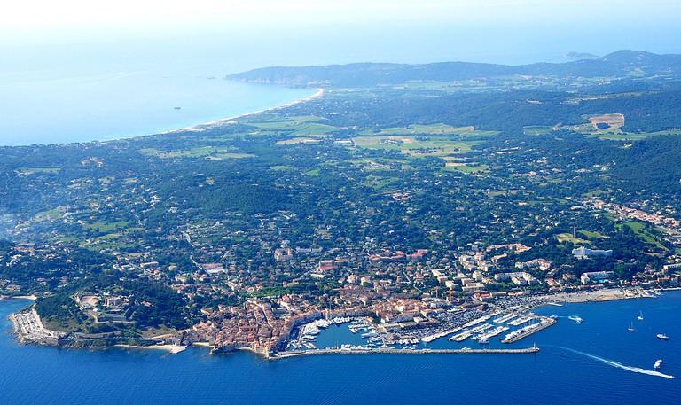 An aerial view of Saint-Tropez