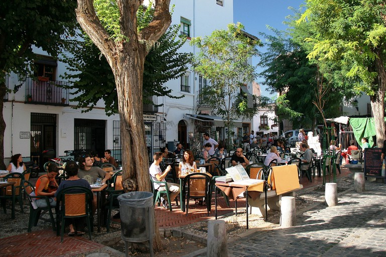 A lively square in the Albaicín neighbourhood of Granada I