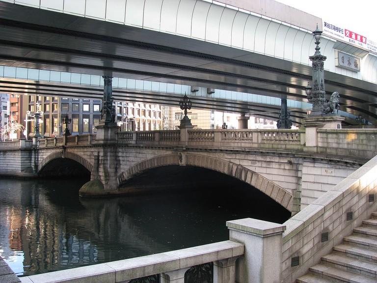 Nihonbashi (Japan Bridge) reconstruction, 1911