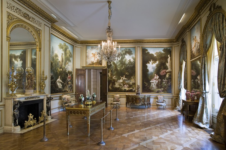 The Fragonard Room at The Frick Collection, New York