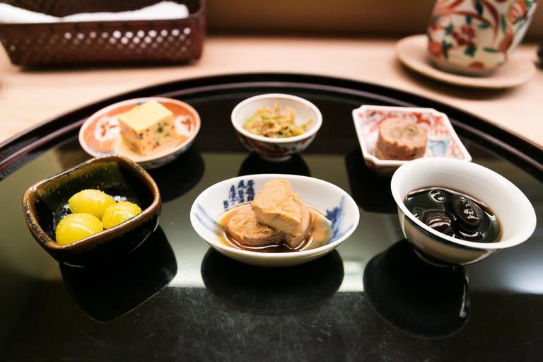 Michelin three-star restaurant Chihana in Kyoto