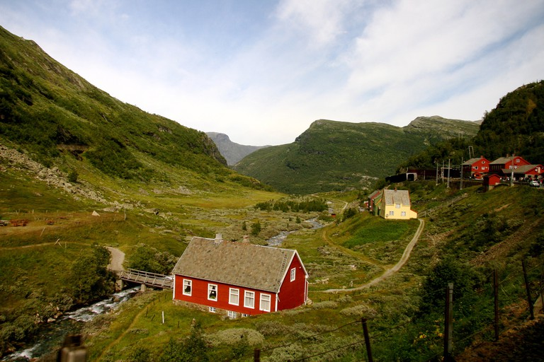 View aboard the Oslo-Bergen railway