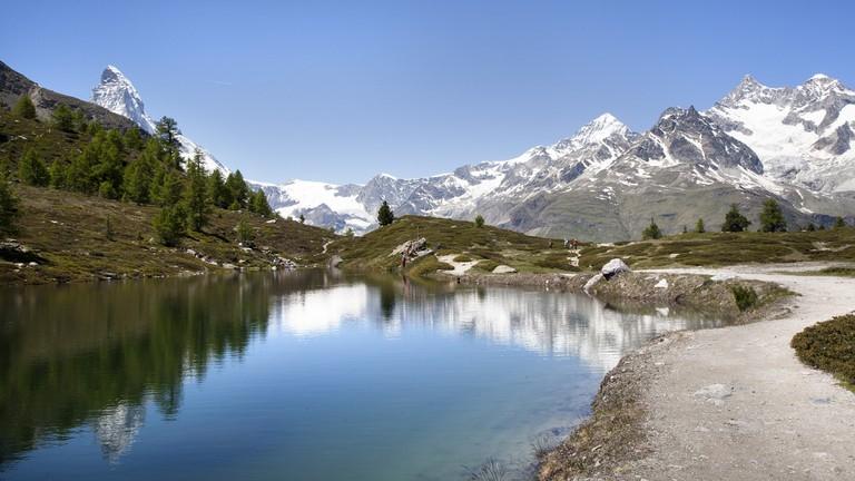 A glimpse of the Matterhorn