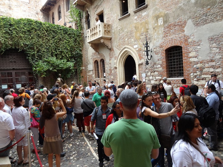 The courtyard of Juliet's House