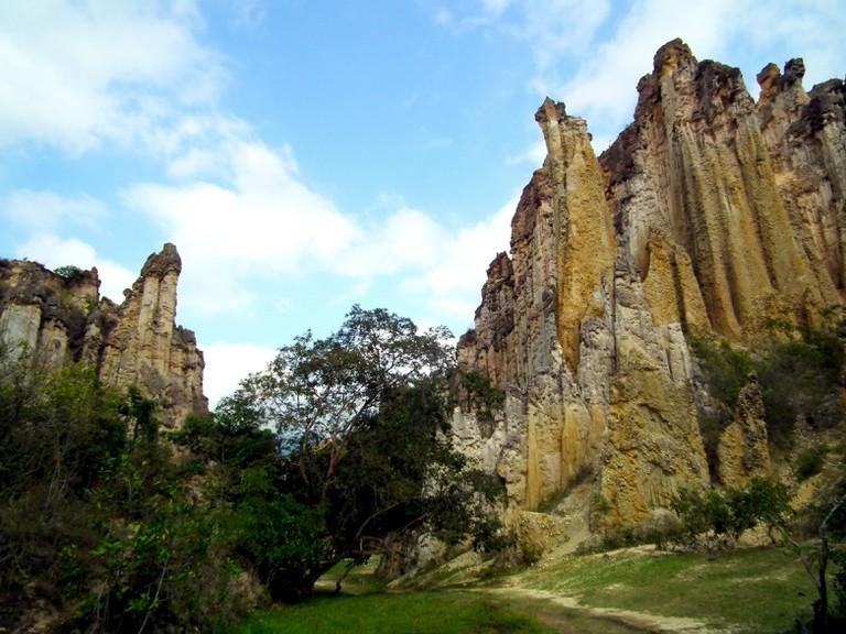 The bizarre stone columns of Los Estoraques