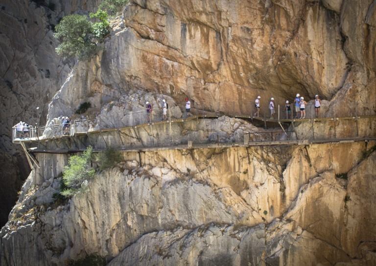 Stop off and walk the Caminito del Rey on your roadtrip to Seville I