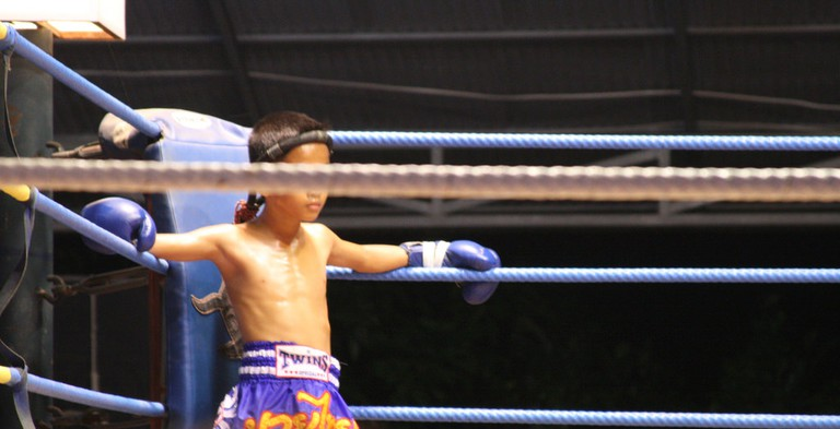 Young Muay Thai fighter in Ko Phangan