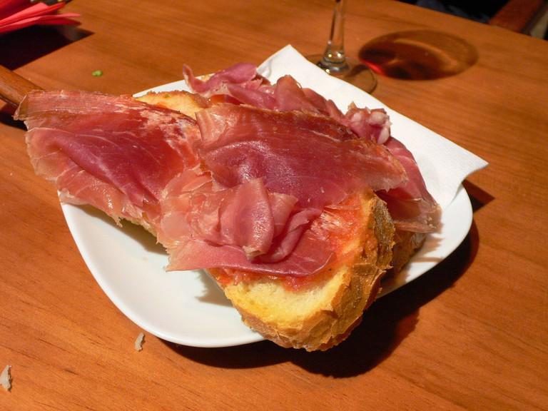 Try Spanish jamón in Valencia