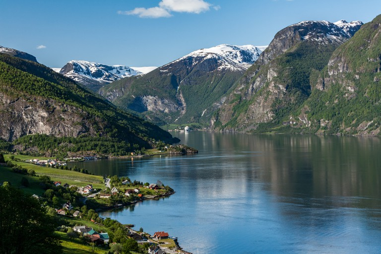 The Aurlandsfjord in spring