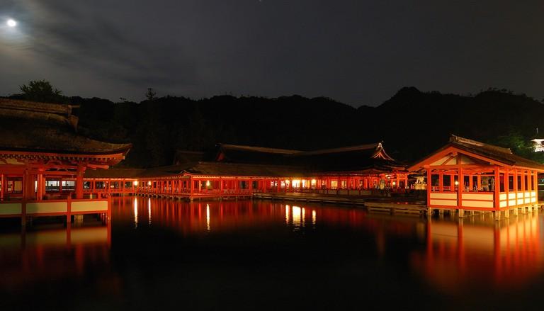 Moonlight over Itsukushima Shrine