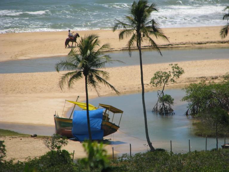 The beach in Trancoso