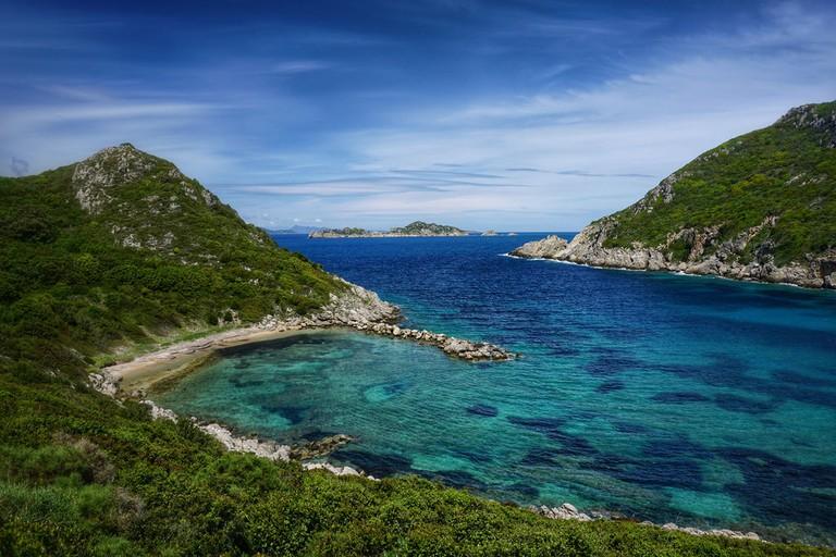 A view of the coast, Corfu
