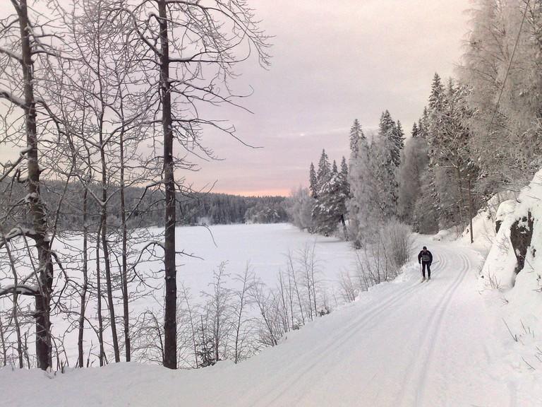 Sognsvann in winter