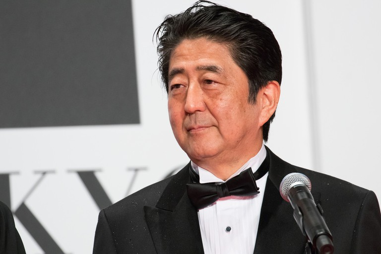 Prime Minister of Japan Shinzo Abe at the Tokyo International Film Festival opening ceremony, 2016