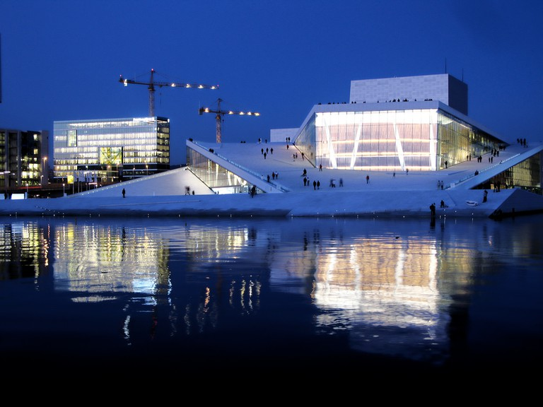 Oslo Opera House by night