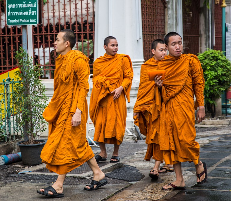 Outside a temple in Bangkok