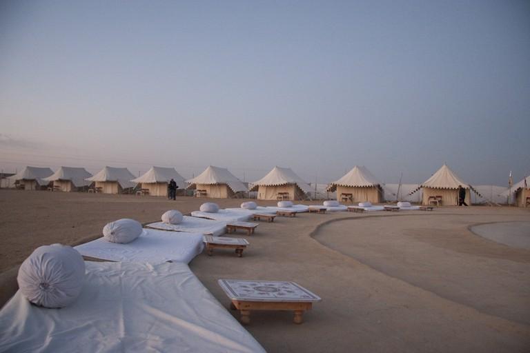 Camp in the Thar desert