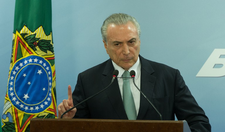 Brazil's President Michel Temer, who is facing corruption charges