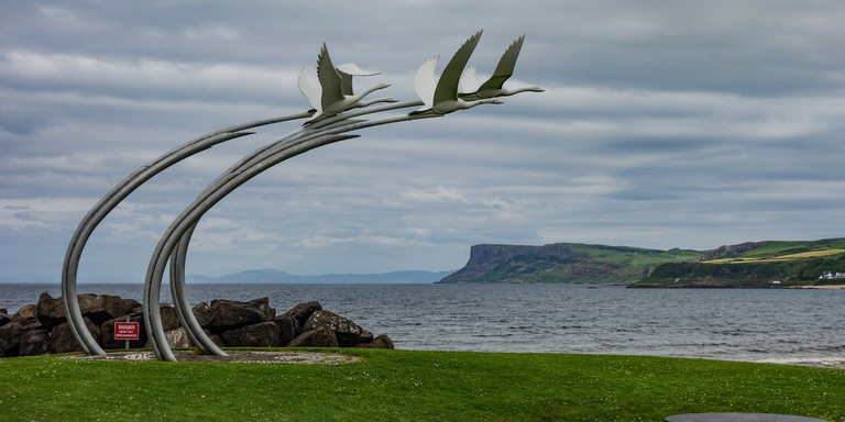 The Children of Lir Sculpture at Ballycastle | Philip McErlean / Flickr