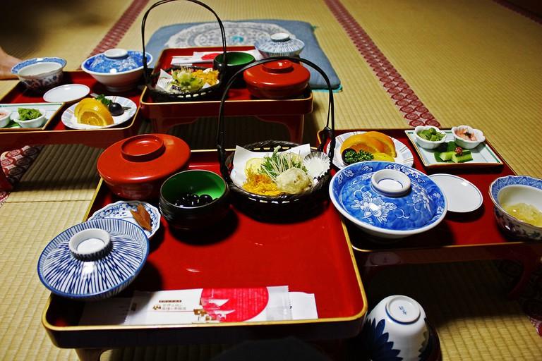 The traditional temple meal, shojin ryori