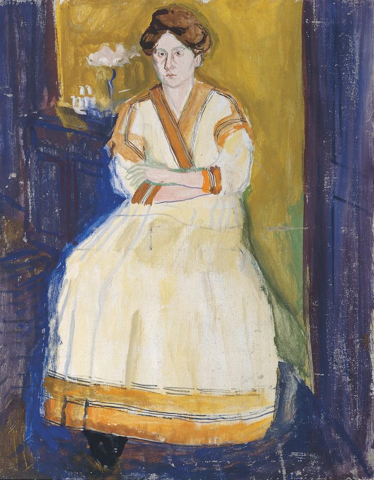 Richard Gerstl (1883-1908), Mathilde Schönberg, summer 1907 | Belvedere, Vienna