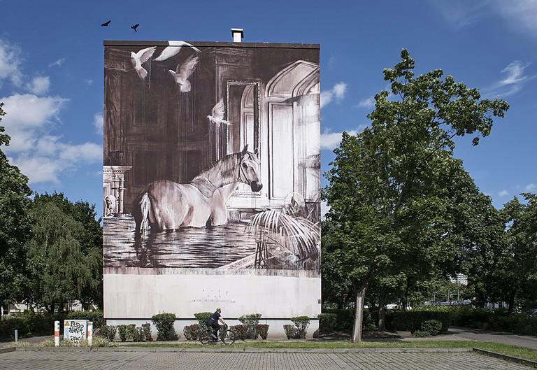 Ricky Lee Gordon's mural | © Nika Kramer / Urban Nation Berlin