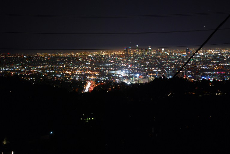 The view from Runyon Canyon at night