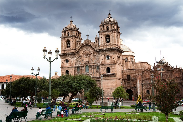 Plaza de Armas, the heart of Cusco, Peru