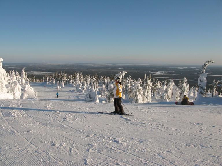 Skiers in Ylläs / Leo-setä / Flickr