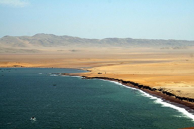 The coastline of Paracas National Reserve I