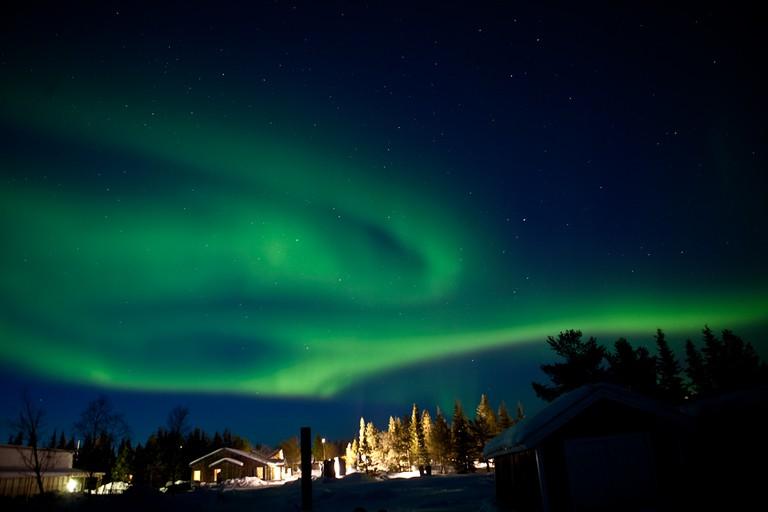 Northern lights visible from Kiruna / G V / Flickr