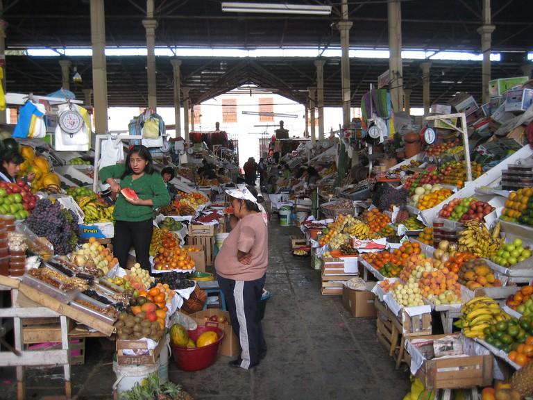 A mercado in Peru