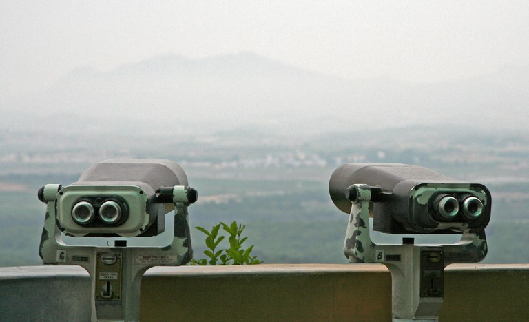 A view from the DMZ's Dora Observatory