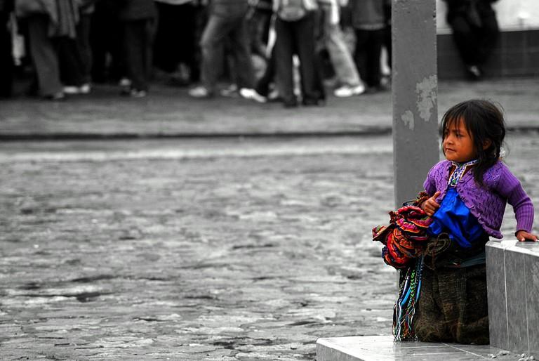 A young girl in San Juan Chamula