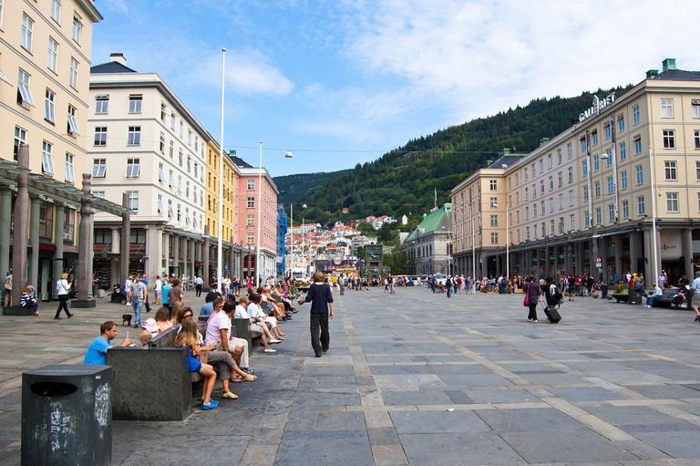 Torgallmenningen, central Bergen
