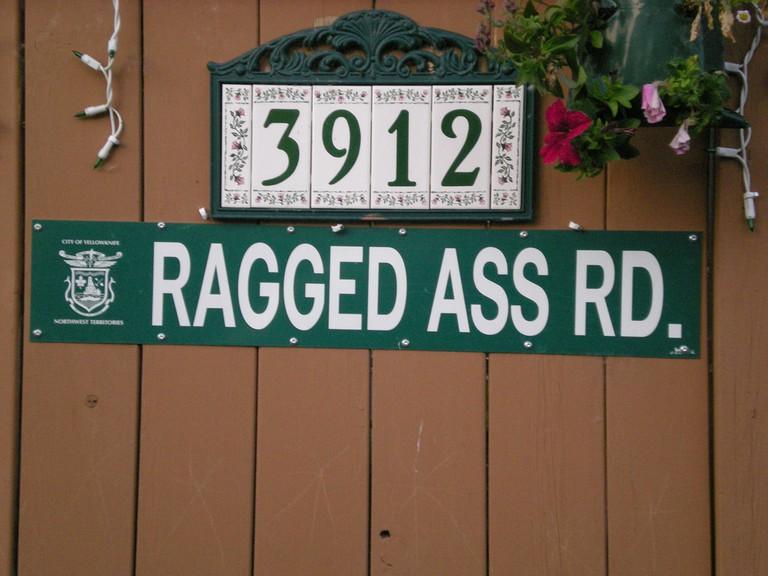 Ragged Ass Road signpost