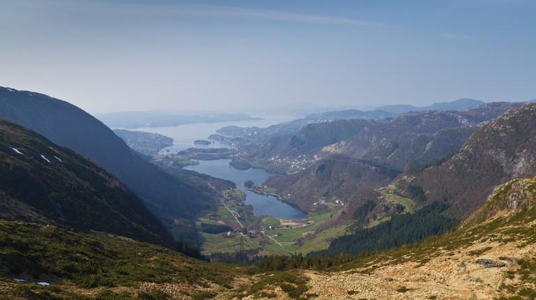 View from an Eidsvåg mountaintop