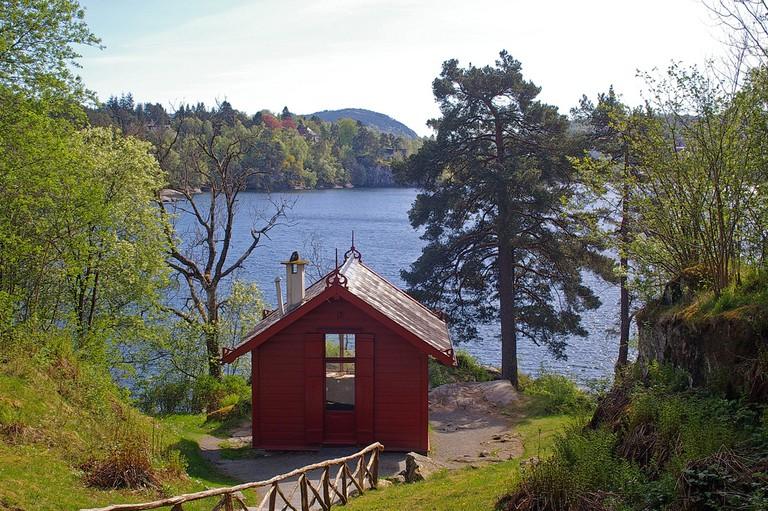 Grieg's composer's cabin at Troldhaugen