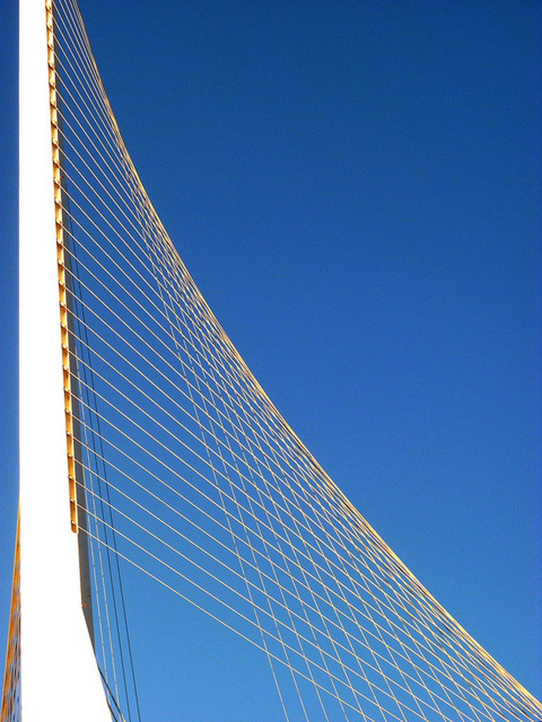 """Strings Bridge,"" Jerusalem. CC: zeevveez"