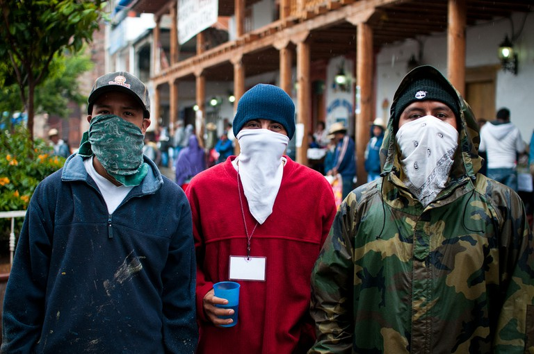 Youths in Cherán supporting the uprising, 2011