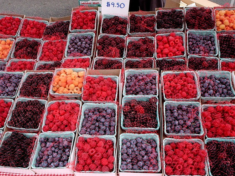 Berries at the Santa Monica Farmer's Market
