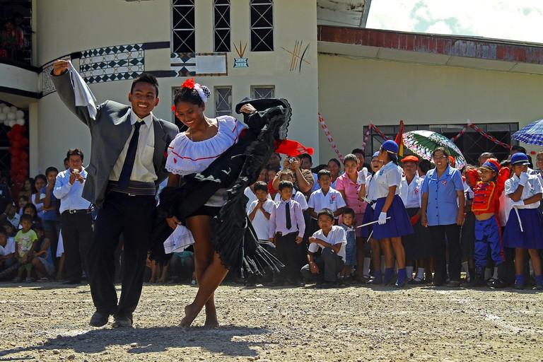 Marinera dancing, Peru