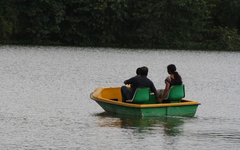 Peddle boating