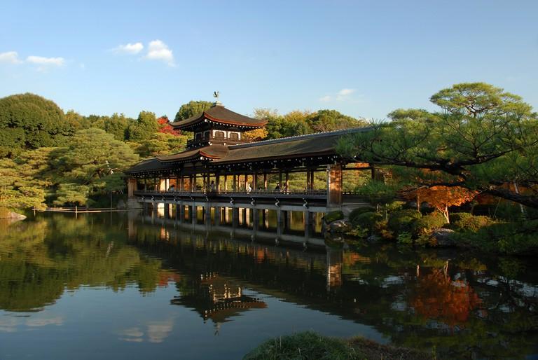 The historic Heian Shrine, a UNESCO World Heritage Site