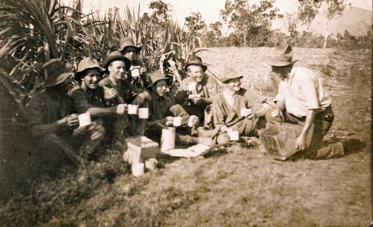 Time for a 'cuppa' in the canefields of north Queensland, Australia – 1922